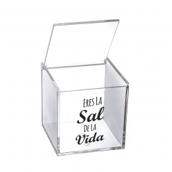 "Salero metacrilado frase "" Eres la sal de la vida """
