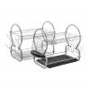 Escurreplatos metalico 2 pisos con bandeja moderno para cocina Basic