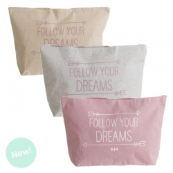 "Set 3 neceser flechas "" Follow Your Dreams """