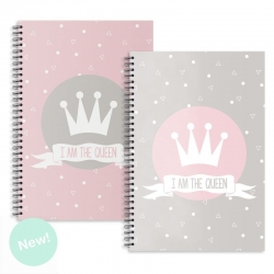 "Libretas A4 corona "" I Am The Queen "" - Pack 2 ud."
