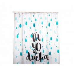 Cortina baño poliester Tu y Yo y la ducha 180x200 cm