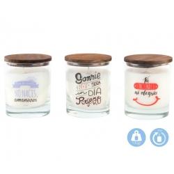 Velas aromatica originales con mensaje duracion 35 HORAS