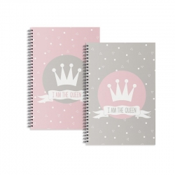 "Libretas A5 corona "" I Am The Queen "" - Pack 2 ud."