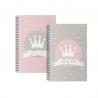 """Libretas A5 corona """" I Am The Queen """" - Pack 2 ud."""