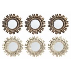 Espejos de pared sol nacido para decoración de 25 cm