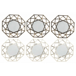 Conjunto espejos de pared scandi para decoración de 25 cm