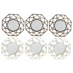 Conjunto espejos de pared scandi para decoración de 25 cm