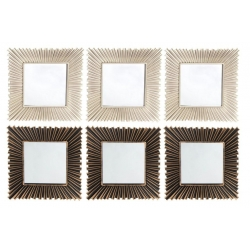 Conjunto set 6 espejos de pared para decoración de 25 cm