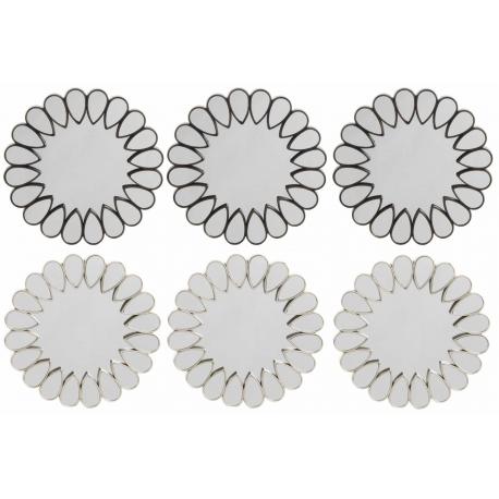Conjunto set 6 espejos de pared para decoración de 25 cm