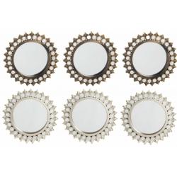 Set 6 espejos de pared sol nacido para decoración de 25 cm