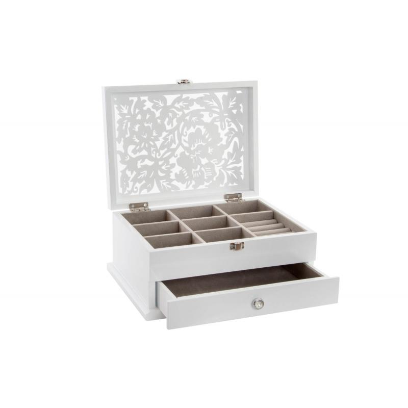 Caja joyero moderna blanca de madera lacado para - Lacado de madera ...