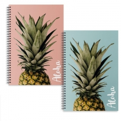 Libretas A4 piña aloha - Pack 2 ud.