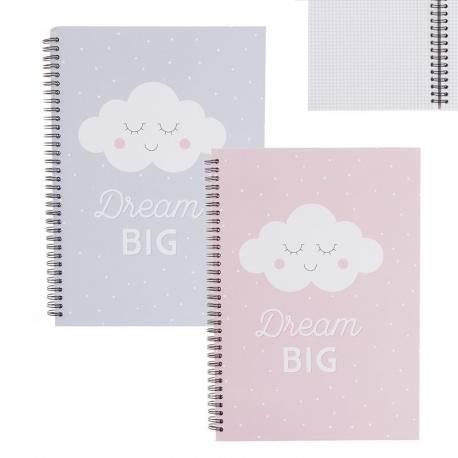Libretas A4 infantil nubes - Pack 2 ud.