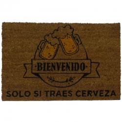 Felpudo con Diseño Traes Cerveza, PVC, Coco, 60 x 40 cm