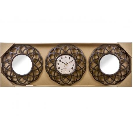 Jurgo 2 espejos de pared y reloj clásicos para decoración clasicos .