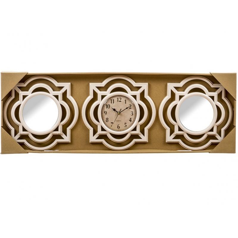 Juego 2 espejos de pared y reloj omega para decoraci n - Relojes para decorar paredes ...