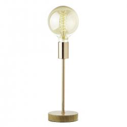 Lámpara de sobremesa industrial cobre de madera para salón Factory