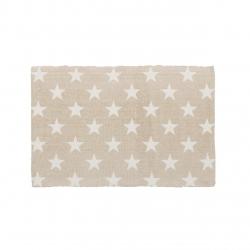 Alfombra blanco-gris estrellas algodón 90 x 60 cm