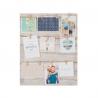 Marco multifoto de pared lienzo 12 pinzas 40x50 cm