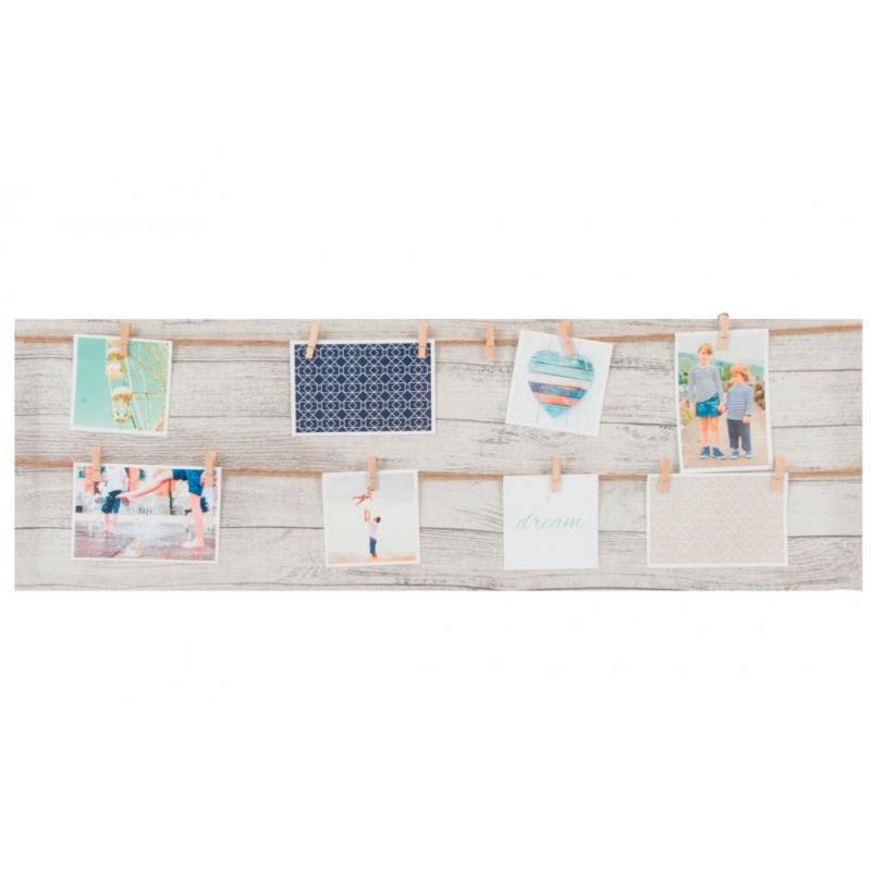 Marco multifoto de pared lienzo 12 pinzas 30x90 cm  dcasa.es