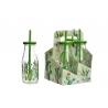 Botellas de agua con diseño cactus verde ( Pack 4 botellas 300 ml con pajita )