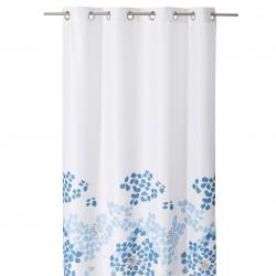 """Cortina baño anillas """"mykonos"""" blanco-azul 140 x 260 cm"""