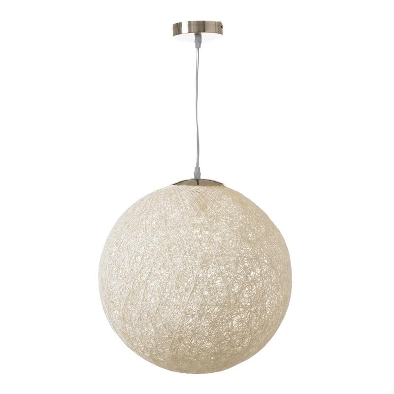 L mpara de dise o minimalista blanca de metal para sal n - Lamparas de comedor de diseno ...