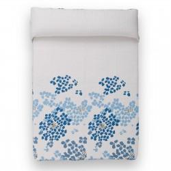 "Colcha de cama diseño ''bouti'' ""mykonos"" blanco-azul 260 x 240 cm"