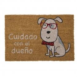 Felpudo perro Cuidado con el Dueño 40x60 cm