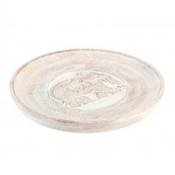 Bandeja vaciabolsillos madera tallada 20 cm