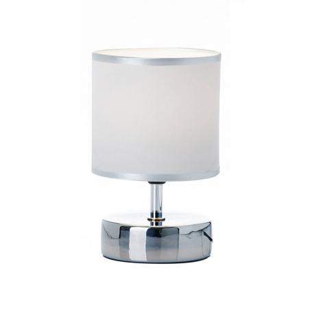 Lámpara plata ceramica 14 x 14 x 23 cm
