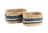Set 2 cesta fibra natural .