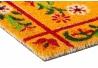 Felpudo fibra coco floral 75x45 cm