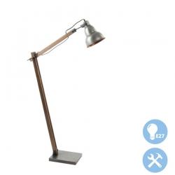 Lámpara de pie vintage negro madera para salón factory .