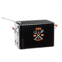 Barbacoa metal portatil con asa 30x22x22 cm