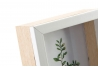 Portafotos madera natural blanco 10 x 15 cm .
