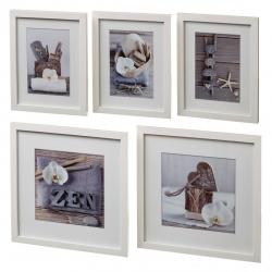 Cuadros portafotos nórdicos blancos de madera para salón Vitta