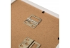 Cuadros portafotos étnicos blancos de madera para salón SolNaciente
