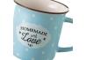 Taza de té pop azul de cerámica para cocina Iris (Set de 4 tazas)