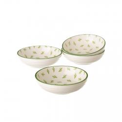 Pack 4 plato cactus verde mini porcelana .