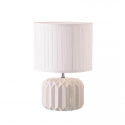 Lámpara de mesita de noche moderna blanca de cerámica para decoración Arabia