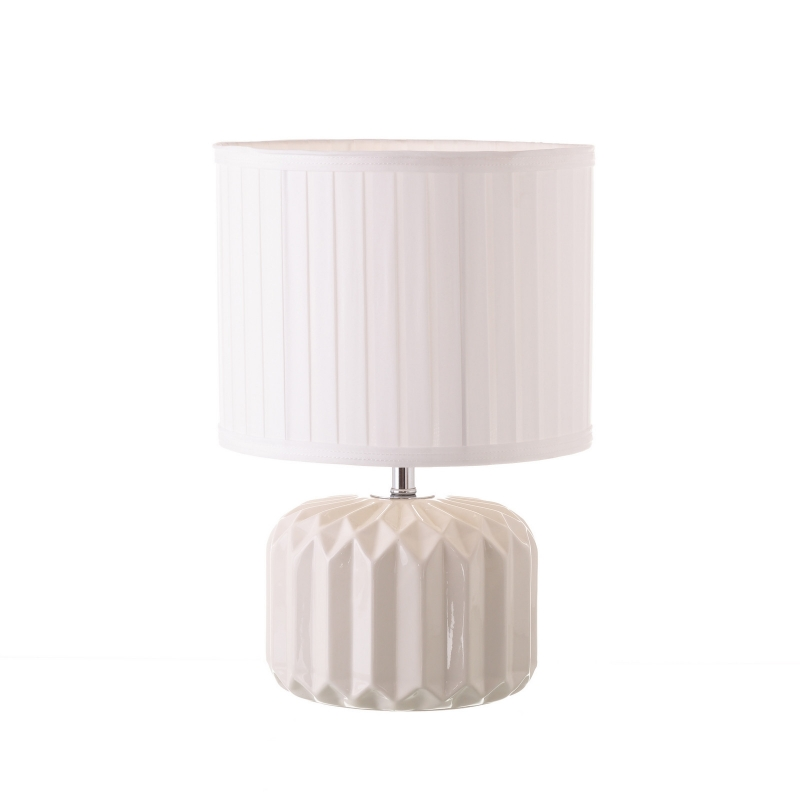 L mpara de mesita de noche moderna blanca de cer mica para for Mesita de noche pared