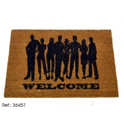 Felpudo original de welcome men , 40 x 60 cm.
