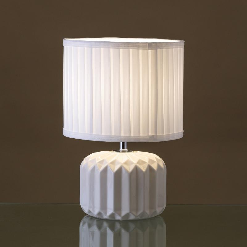 L mpara de mesita de noche moderna blanca de cer mica para decoraci n arabia - Mesitas de noche de pared ...