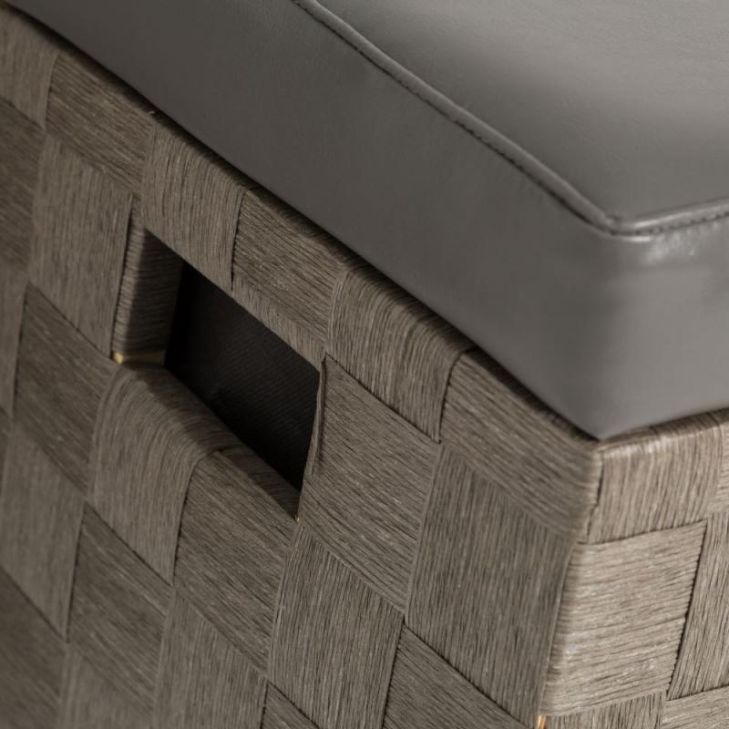 Puffs ba l modernos gris de madera para dormitorio fantasy - Baul para dormitorio ...