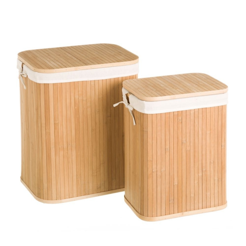 Cestos multiusos de bambu para dormitorio o ba o - Cestos para el bano ...