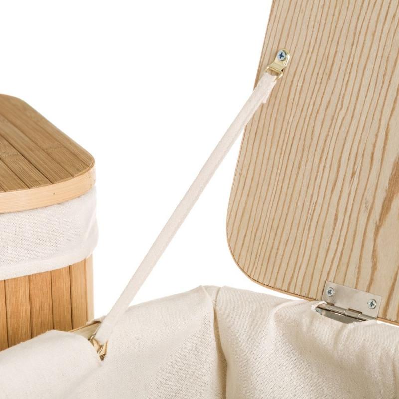 Cestos multiusos de bambu para dormitorio o ba o for Accesorios bano bambu