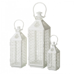 Set de 3 farol portavelas metal para decoracion fantasy