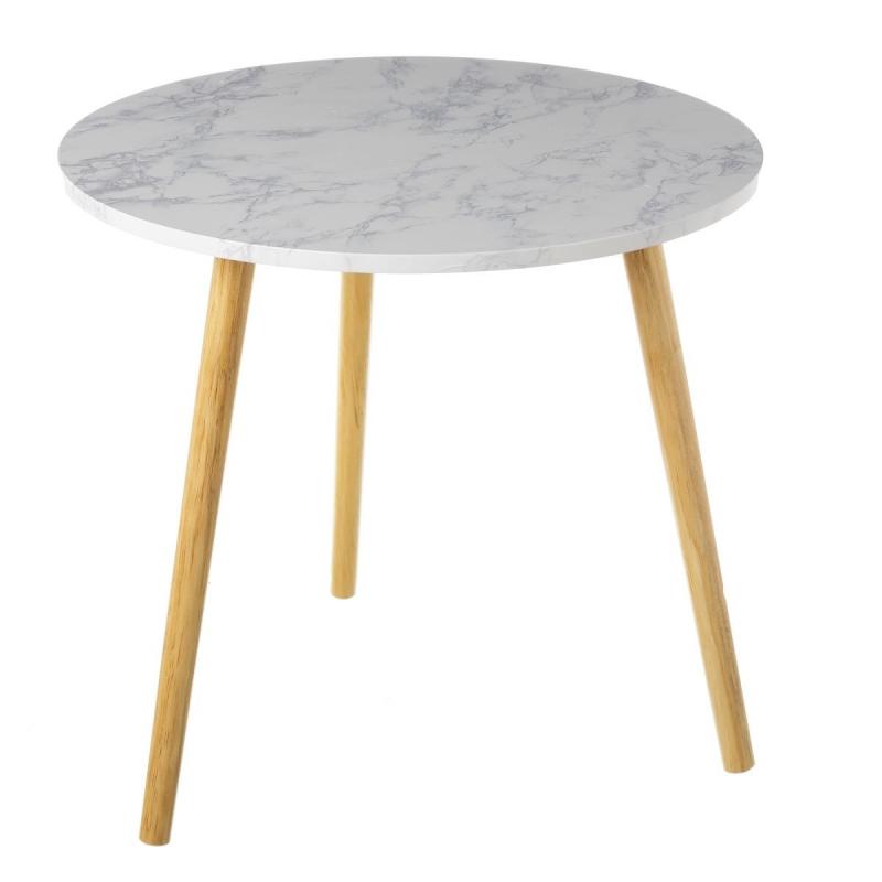 mesa auxiliar n rdica blanca de madera para dormitorio