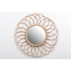 Espejo de minbre un toque artesana 70 cm .